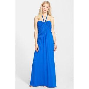 Sky Blue Lanikai Braided Halter Maxi Dress
